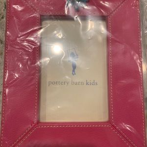 Pottery Barn Kids hot pink/blue 4x6 picture frame